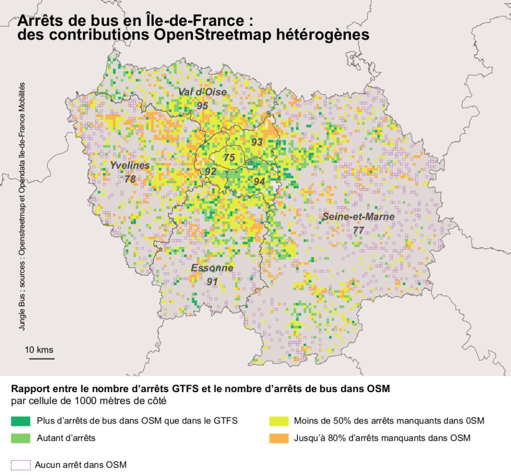 des contributions OpenStreetMap hétérogènes