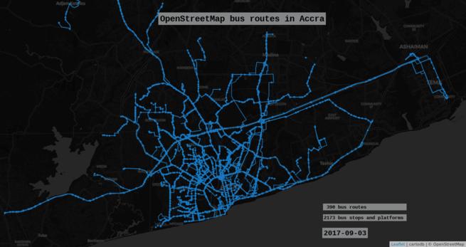 données transport créées à Accra