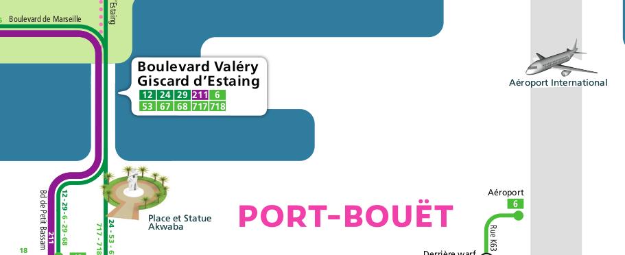 Le plan schématique de transport d'Abidjan, disponible sur le site http://sites.digitaltransport.io/abidjantransport