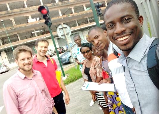 Premier jour de relevés terrains pour l'équipe, Gare Sud (Abidjan)